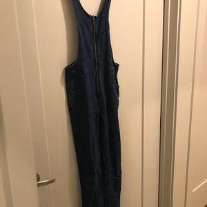 Free people zip front overalls jumpsuit